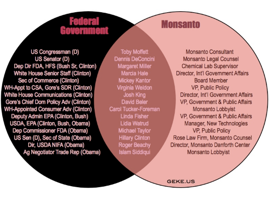 Monsanto is the federal government the venn diagram page 1 why is monsanto bad its dr frankenstein and its genetically modified food products and corporate ethics are the monster its a toxic company that ccuart Image collections