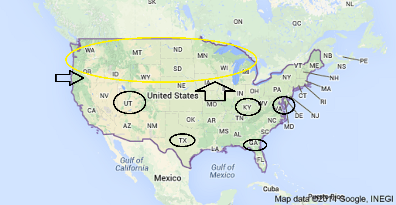 Anyone Else Notice Anything Weird About The Locations Of The USA - Ebola us map