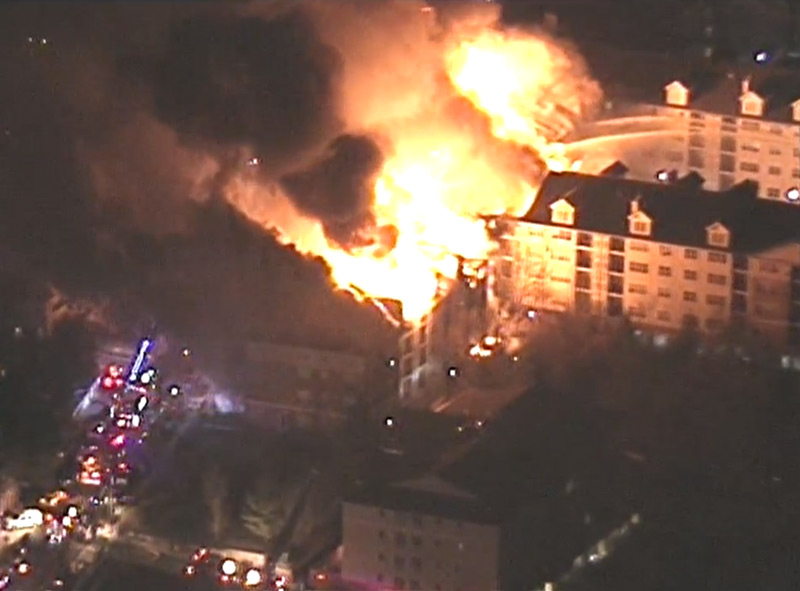 Huge Fire at Apartment Complex in Edgewater, NJ, page 1
