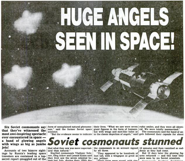 Angel-Like Giant Winged Humanoids Sighted In Space! , page 1