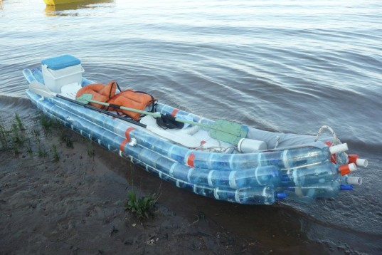 how to make a toy boat out of plastic bottles