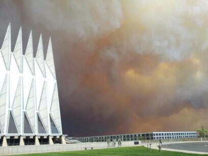 Wildfire near Air Force Academy