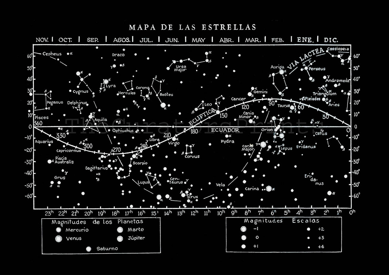Images Of Constant Astronomy Map SpaceHero - Zodiac constellations map