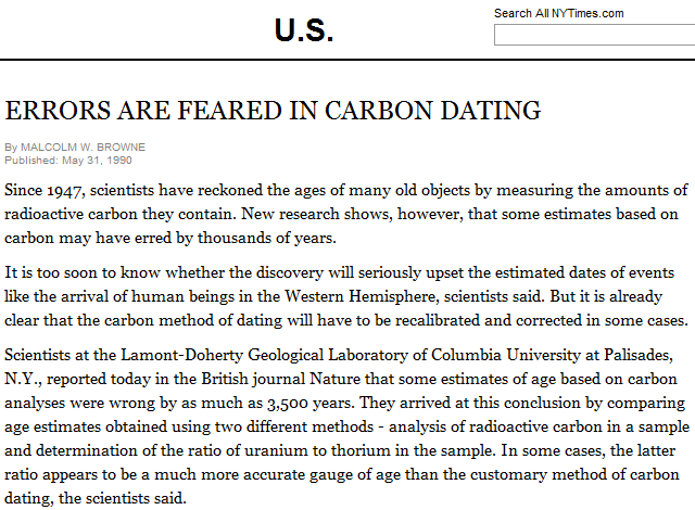 is carbon dating correct