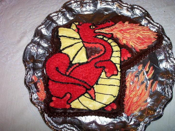 Pin Easy Dragon Cake Cake On Pinterest