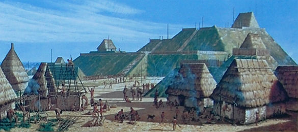 cahokia civilization The city of cahokia was a mississippian marketplace where one might obtain marine shell, different types of stone for making arrowpoints or woodworking tools, or finished goods like mill creek chert hoes from union county, illinois.