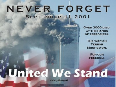 Never forget...9/11/01!   God Bless America.