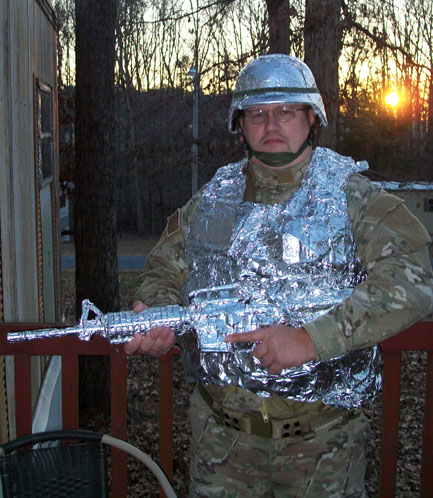 Designed To Protect The Modern Solr From All Kinds Of Alien Tin Foil Combat Armor Is Latest Our Black Govt Budget In Defense