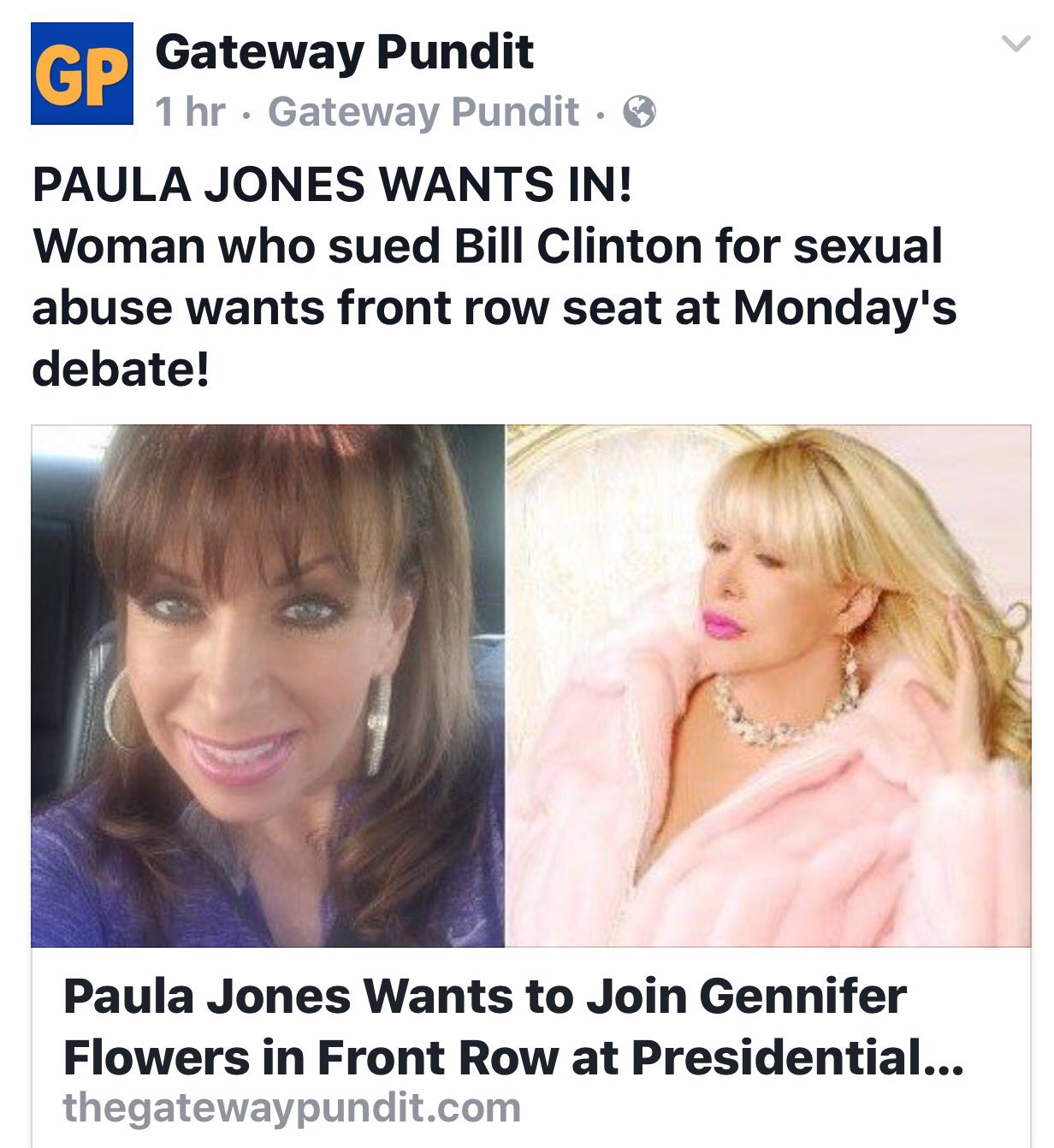 Gennifer Flowers Agrees To Join Trump At Presidential Debate page 6