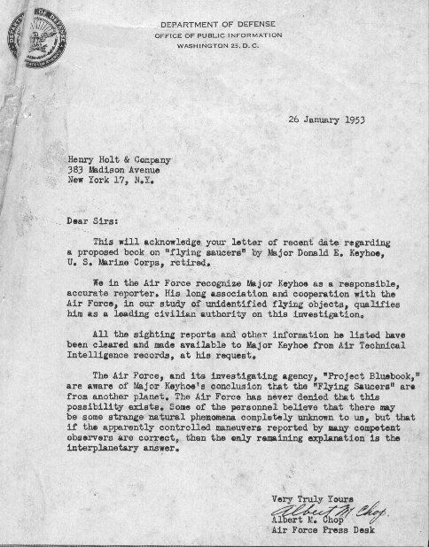 Special Report In Civilian Letter Format