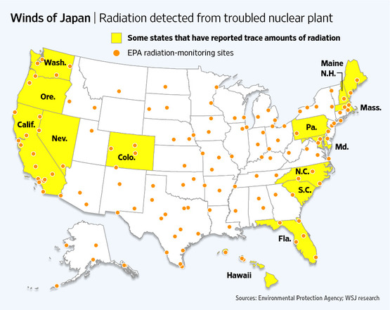 Radiation Watch Page - Us radiation map