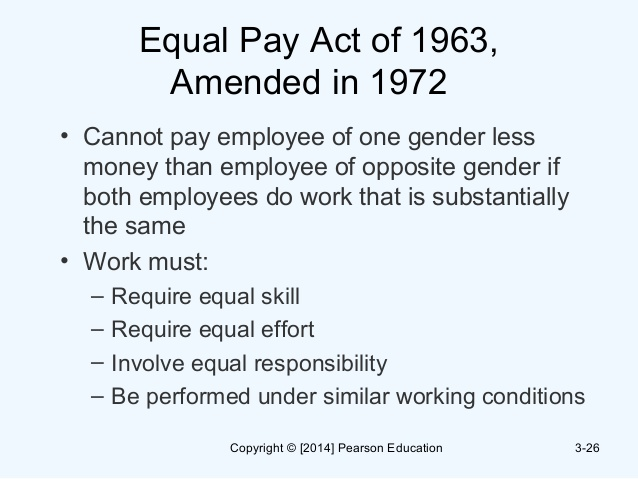 the equality act essay In 1963, president kennedy signed the equal pay act into law, making it unlawful to discriminate against a worker on the basis of sex since that time, the.