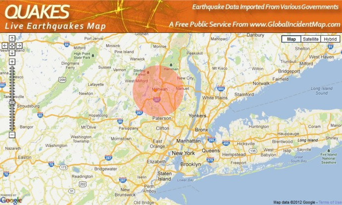 New Jersey  Small Earthquake After Hurricane Sandy Page 1