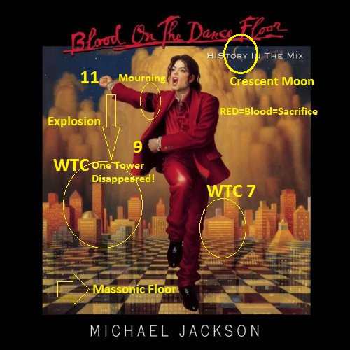 Michael jackson rituals of blood sacrifice for 9 11 event for 1 2 3 get on the dance floor lyrics