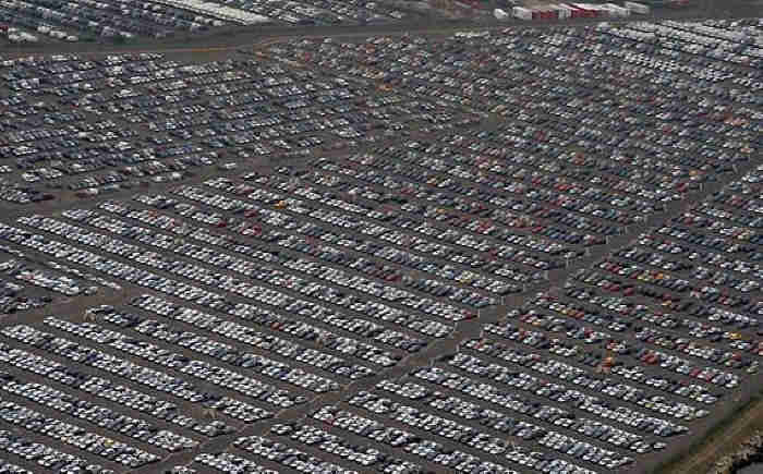 Hundreds Of Thousands Of Brand New Unsold Cars Parked