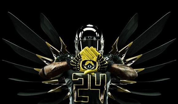 f120f7313 A look at the Oregon Ducks Rose Bowl uniforms. Like the gloves
