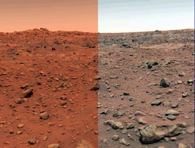 the color content of the images from curiosity are not