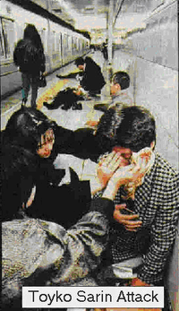 the released of a deadly gas believed to be sarin in tokyo The leader of a cult in japan whose followers released deadly gas in the tokyo  subway in 1995, killing 13 people and injuring thousands, was.