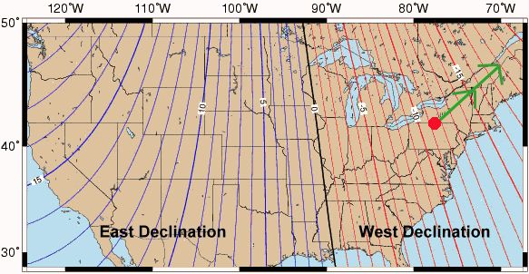 Compasses Going CrazyTheories And Research Page - Magnetic declination map us