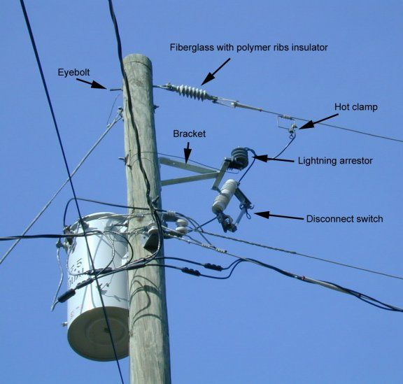 Utility Pole Lightning Arrestor