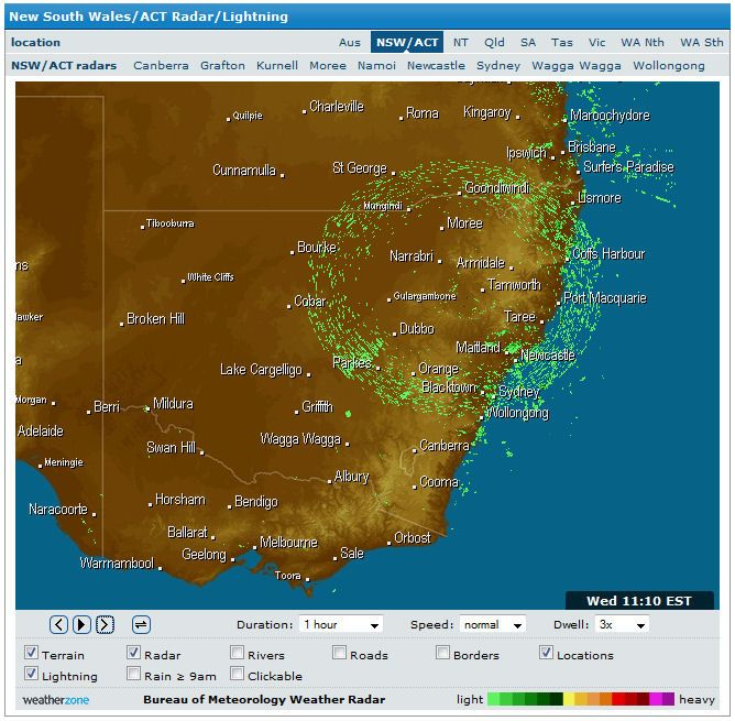 Strange Happenings On Nsw Weather Radar Right Now Page 1