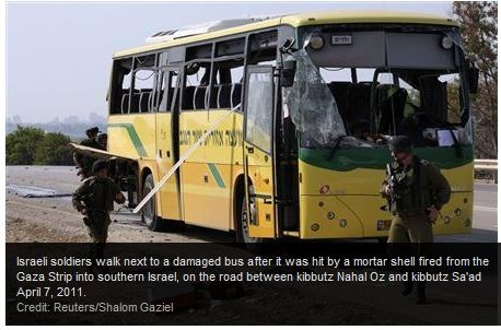 palestinian blow up school bus