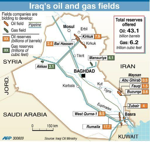 Plausable Proof That The Iraqi War Is Over Oil Iraqi Pipleines - Map of us troops on iraq and oil piplines