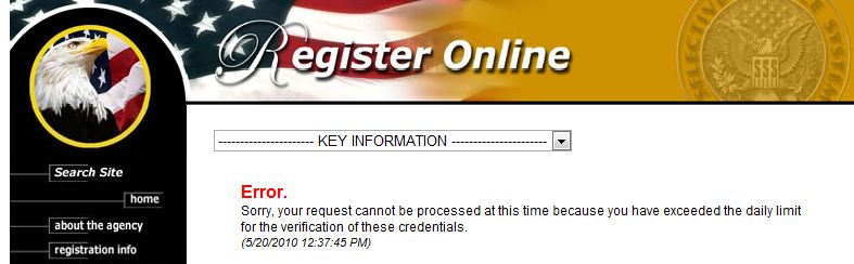 search selective service number
