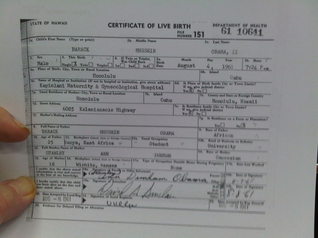 Holy mother i have proof the birth certificate has been edited this is great context for what i am about to show you so please look at these images carefully xflitez Choice Image