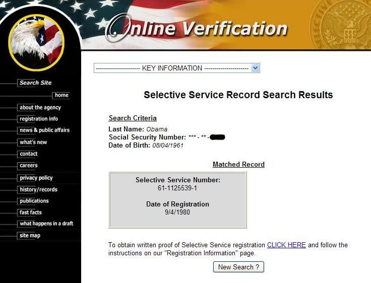 U S Selective Service In Obama Cover Up It Just Won T Go Away Page 1