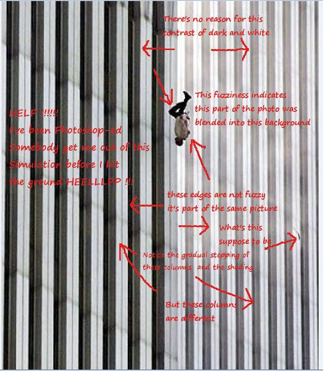 Dead Bodies From 9 11 Jumpers (real image of wtc tower)
