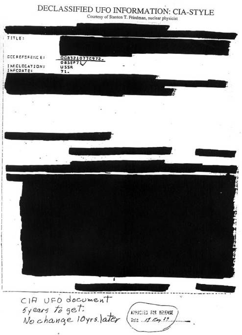 blacked out ufo documents