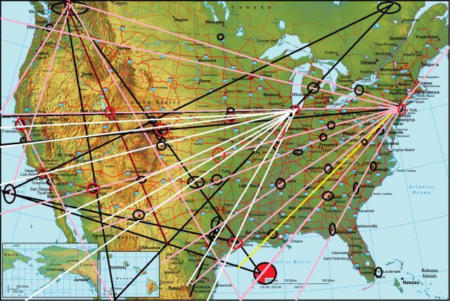 Ley Lines Map United States http://www.abovetopsecret.com/forum/thread666710/pg1