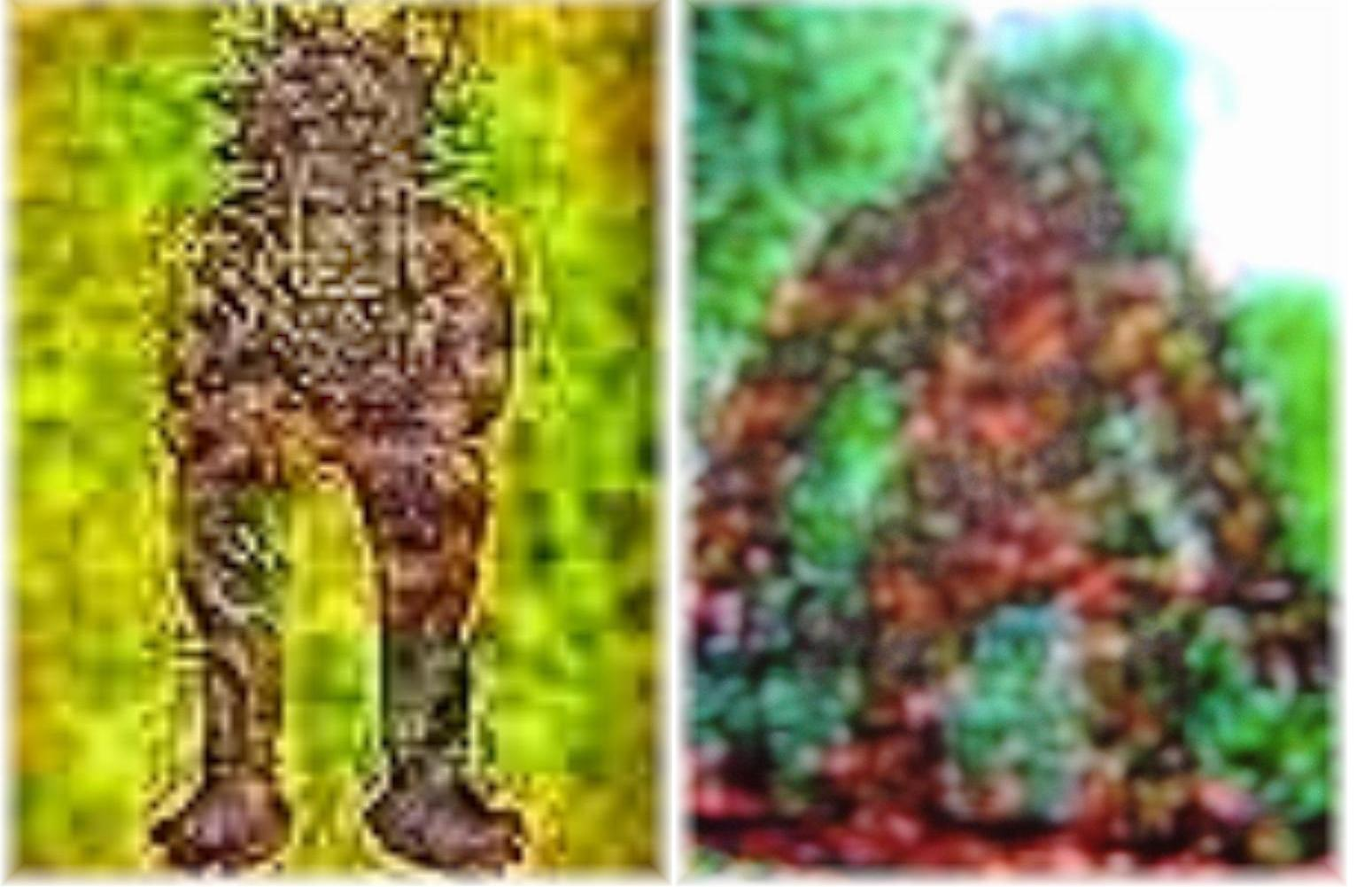click on photo for normal sized picture and comparison with the michigan dogman this maya statue shares startling physical appearance with the michigan