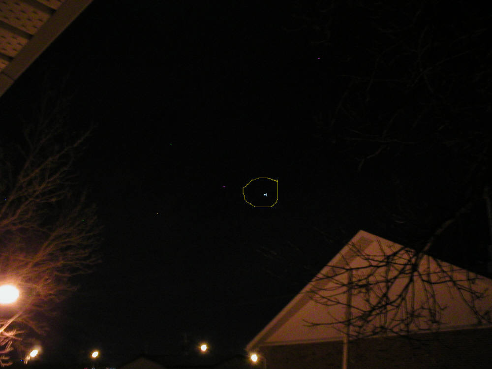 Bright Star Like Object In Night Sky Page 1
